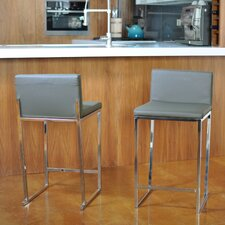"Reda 24"" Bar Stool with Cushion (Set of 2)"