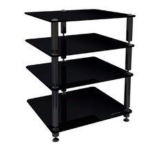 Crest 2 4-Shelf Hifi Stand in Glossy Black