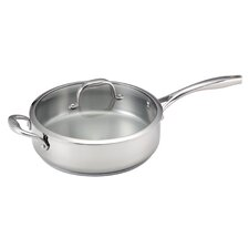 5-qt Deep Stainless Steel Saute Pan with Lid