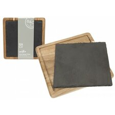 Bistro & CO Mikko Acacia Trivet and Slate Server