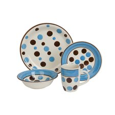 Dotty Time 16 Piece Dinnerware Set