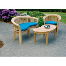 Half Moon 3 Piece Seating Group
