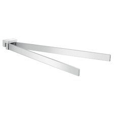 Lanzarote Wall Mounted Swivel Double Towel Bar