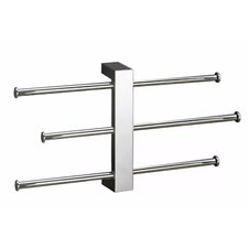 Bridge Fixture Mounted Sliding 3-Tier Towel Rack