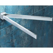 Glamour Wall Mounted Jointed Double Towel Bar
