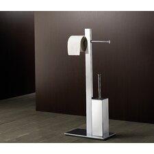Bridge Bathroom Butler Free Standing Toilet Brush Set