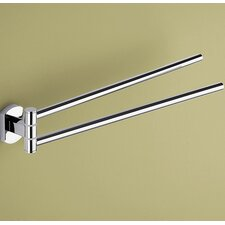 Edera Wall Mounted Jointed Double Towel Bar