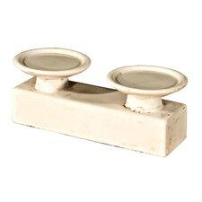 2-tlg. Doppel-Kerzenständer Gamba