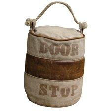 Türstopper aus Leder und Leinwand