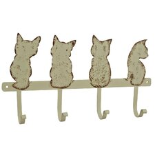 Cat Quartet Wall Mounted Wardrobe Hook