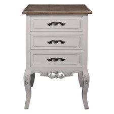 Chateau 3 Drawer Bedside Table