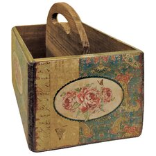 18 cm x 16 cm Haushaltskasten Vintage Rose