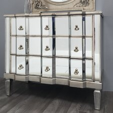 Vintage Mirrored 3 Drawer Chest