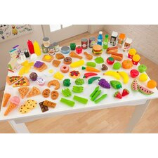 115 Piece Tasty Treats Pretend Food Set