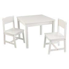 Children's 3 Piece Square Table and Chair Set