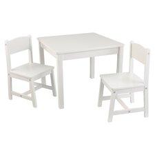 3-tlg. Quadratisches Kinder Tisch und Stuhl-Set
