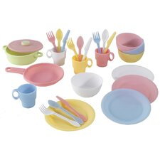 27 Piece Cookware Play Set - Pastel