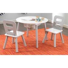 3-tlg. Rundes Kinder Tisch und Stuhl-Set