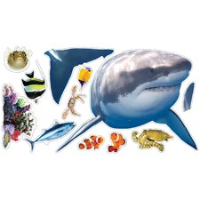 Wild Walls Shark Encounter 3D Wall Décor