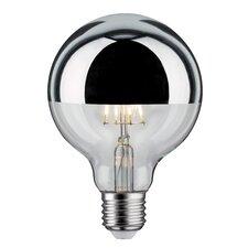 LED-Globelampe E27 5W in Kopfspiegel Silber