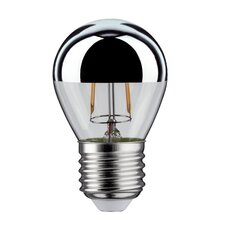 LED-Tropfen E27 2,5W in Kopfspiegel Silber