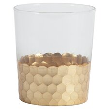 Barclay Butera Montecito Fez Cut Glassware with Leaf (Set of 6)