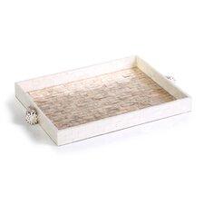 Capiz Brick Tray with Shell Handle