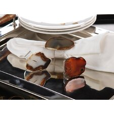 Agate and Acrylic Napkin Ring (Set of 6)