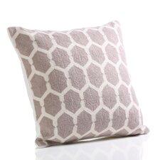 Trellis Hand Embroidered Cotton Throw Pillow