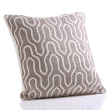 Lancet Hand Embroidered Cotton Throw Pillow
