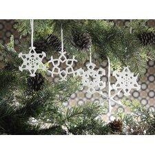 Snowflake Porcelain Ornament (Set of 9)