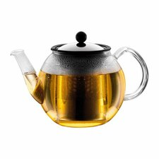 Shin Cha 1.06-qt. Teapot with Handle and Spout and Infuser