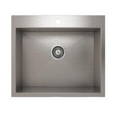 "ProInox 23"" x 20"" Topmount Single Bowl Kitchen Sink"