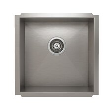 "ProInox 18"" x 18"" Undermount Single Bowl Kitchen Sink"