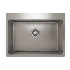 "ProInox 27"" x 20"" Topmount Single Bowl Kitchen Sink"