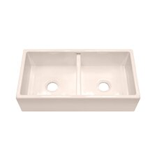 "F110 35.25"" x 18.25"" Farmhouse Double Bowl Kitchen Sink"