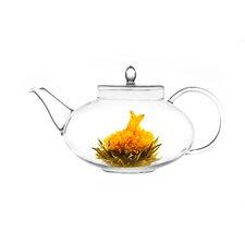 Harmony 1.31-qt. Glass Teapot with Whole Leaf Jasmine Green Tea (3.5oz/100g)