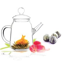 2 Piecec 0.5-qt. Blooming Teapot