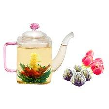 Romeo 0.53-qt. Jasmine Fab Flowering Teapot