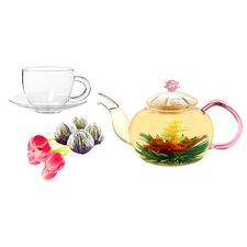 Juliet 0.63-qt. Jasmine Fab Flowering Teapot Set