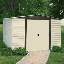 Dallas 10 Ft. W x 6 Ft. D Vinyl Coated Steel Storage Shed