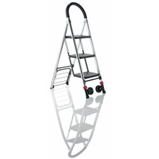 3-Step Conair Travel Smart Kart II Step Stool with 250 lb. Load Capacity