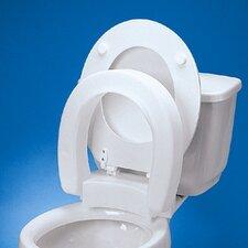 Elongated Hinged Raised Toilet Seat