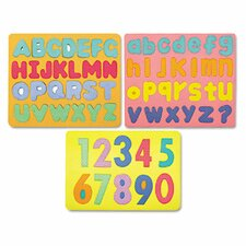 Magnetic Wonderfoam 3 Puzzles Letters & Numbers