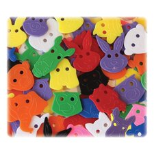 Animal Faces Buttons