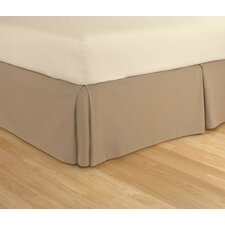 Tailored Microsuede Bed Skirt