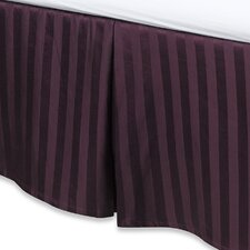 Damask Stripe Tailored 500 Thread Count Bed Skirt