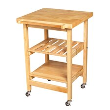 Entertainer I Kitchen Island with Butcher Block Top