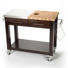 Pro Chef Kitchen Island with Butcher Block Top