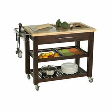 Pro Chef Kitchen Island with Granite Top